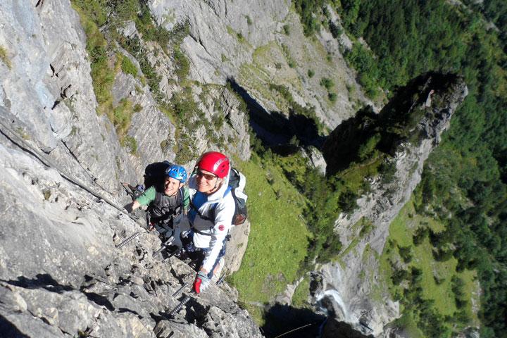 Klettersteig Zermatt : Klettersteig zermatt schweifinen route c klettersteige